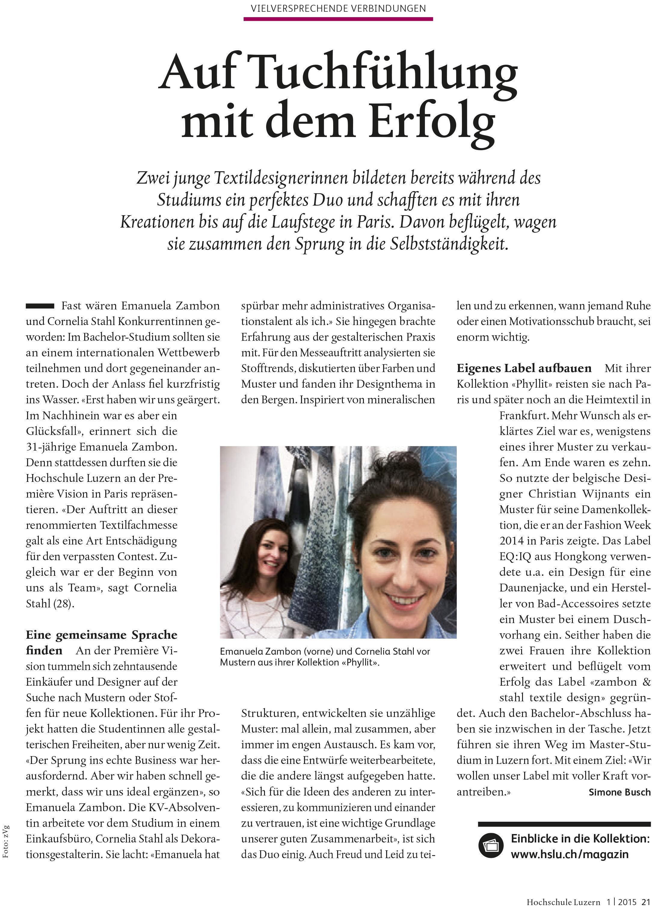 HSLU-Magazin_Auf Tuchfühlung
