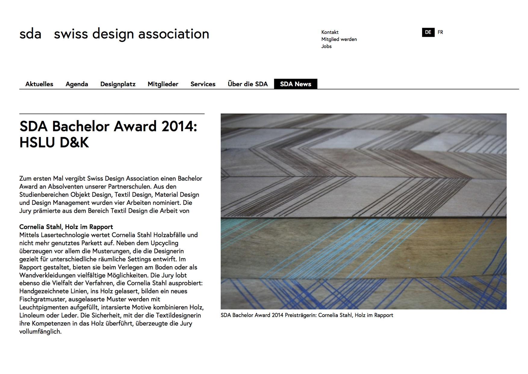 SDA BA Award Cornelia Stahl Textile design